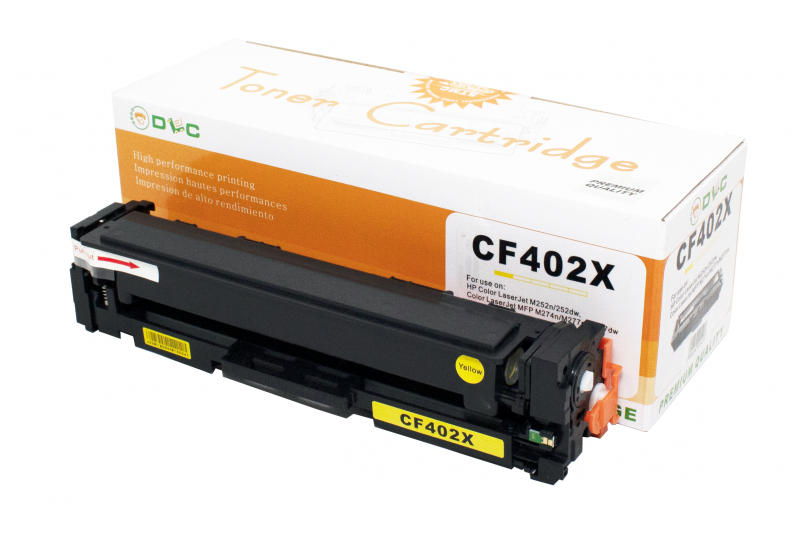 Cartus compatibil toner DLC HP 201X (CF402X) YELLOW 2.3K