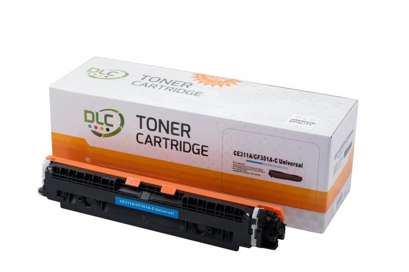 Cartus compatibil toner DLC HP 126A (CE311A) / 130A (CF351A) / CANON CRG729 CYAN, 1K