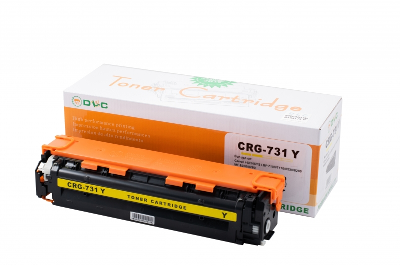 Cartus compatibil toner DLC CANON CRG331/731 YELLOW, 1.8K