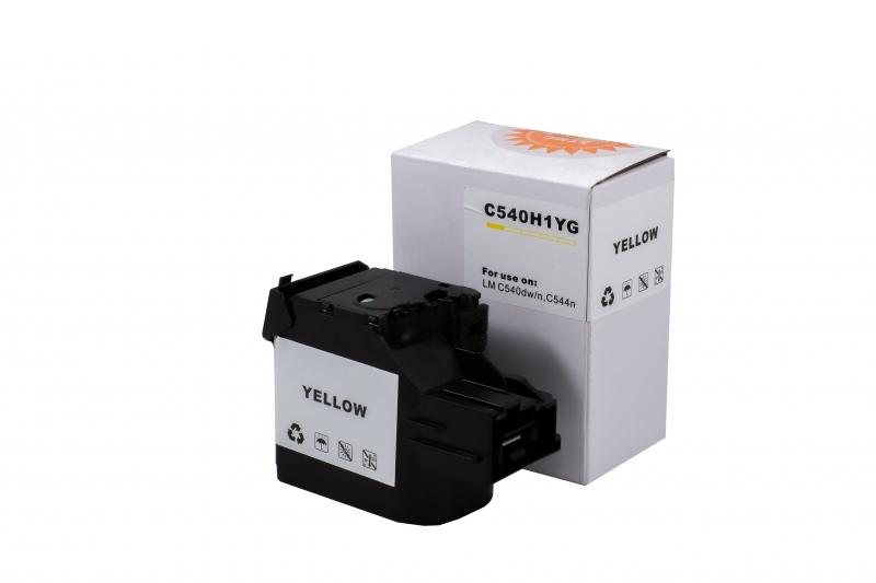 Cartus compatibil toner DLC LEXMARK C540H2YG (C540) YELLOW, 2K