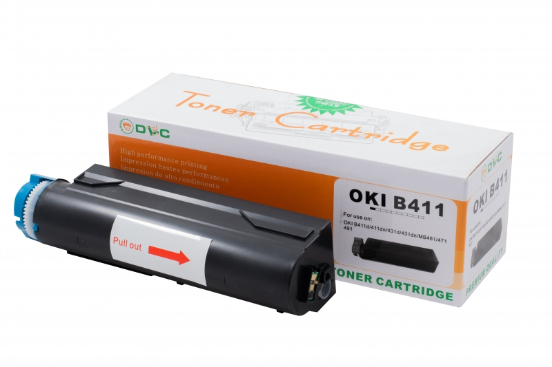 Cartus compatibil toner DLC OKI 44574702 (B411), 4K