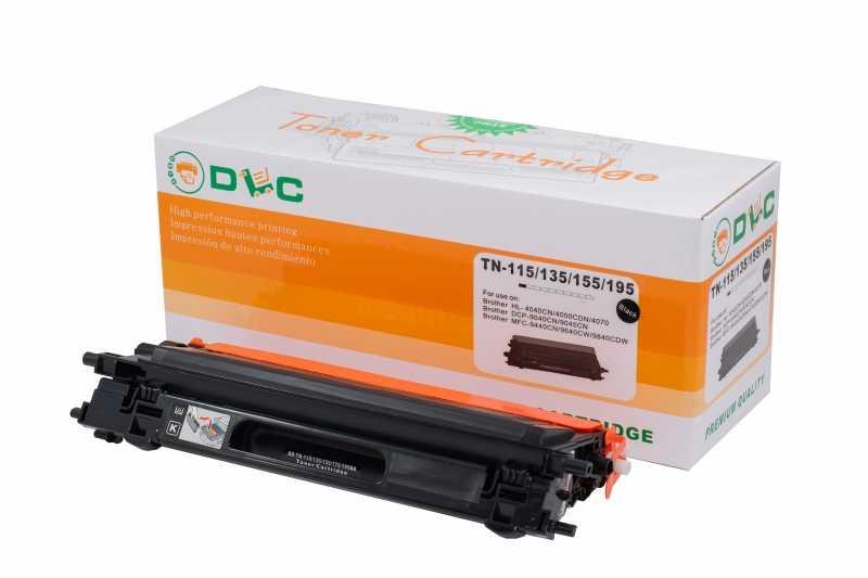 Cartus compatibil toner DLC BROTHER TN115 BK, 2.5K