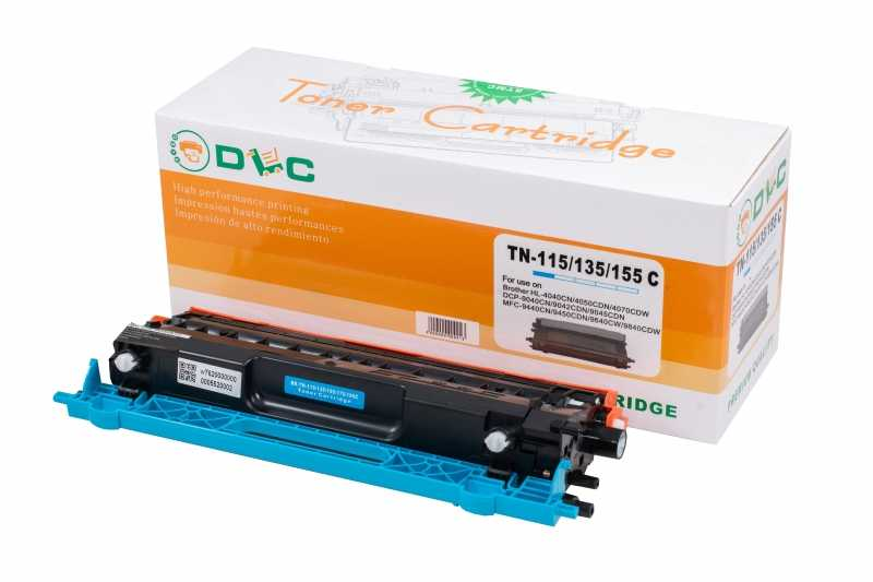 Cartus compatibil toner DLC BROTHER TN115 CYAN, 2.5K