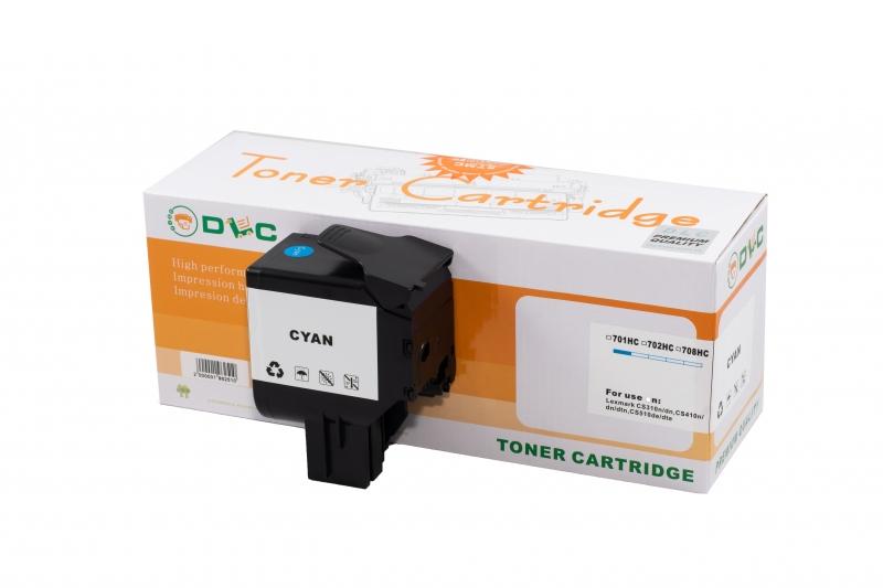 Cartus compatibil toner DLC LEXMARK 702H CYAN, 3K