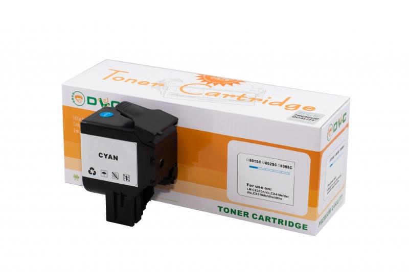 Cartus compatibil toner DLC LEXMARK 802C CYAN, 2K