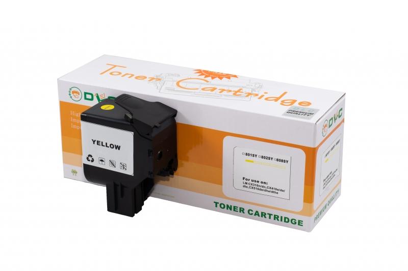 Cartus compatibil toner DLC LEXMARK 802Y YELLOW, 2K