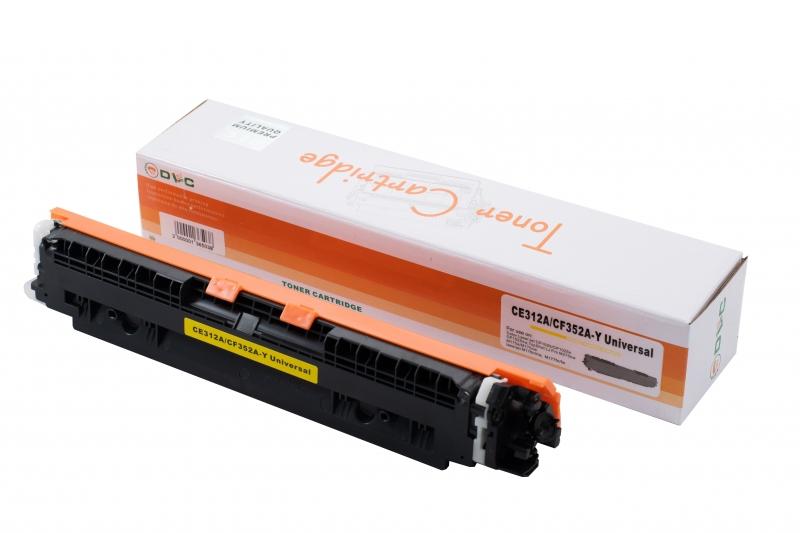 Cartus compatibil toner DLC HP 126A (CE312A) / 130A (CF352A) / CANON CRG729 YELLOW, 1K