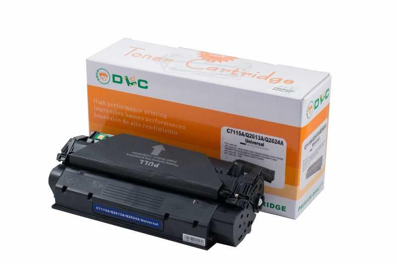 Cartus compatibil toner DLC HP 15A (C7115A) / HP 13A (Q2613A) / HP 24A (Q2624A) Universal, 2.5K