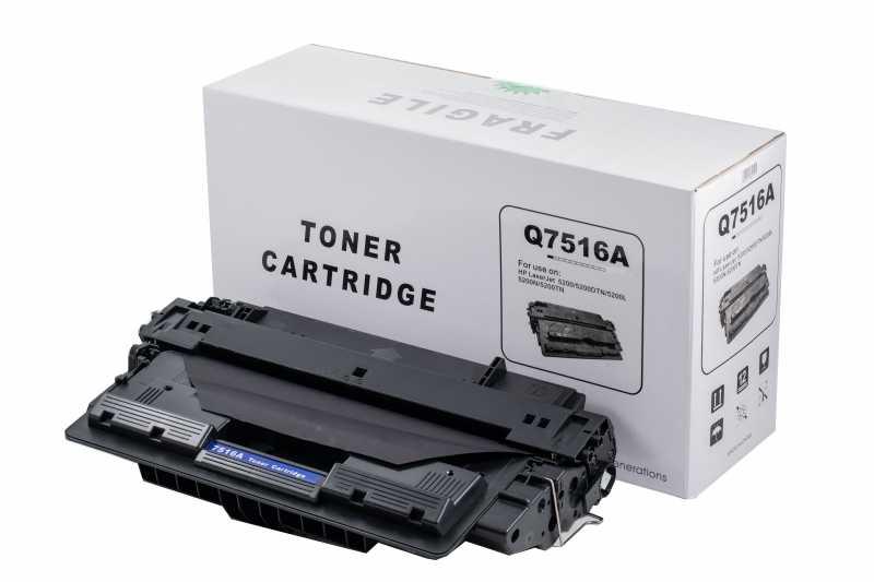 Cartus compatibil toner DLC HP 16A (Q7516A), 12K