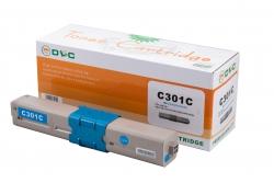 Cartus compatibil toner DLC OKI 44973535 (C301/321/MC332/MC342) CYAN 1.5K