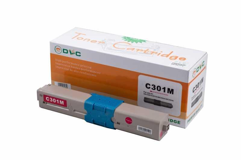 Cartus compatibil toner DLC OKI 44973534 (C301/321/MC332/MC342) MAGENTA 1.5K